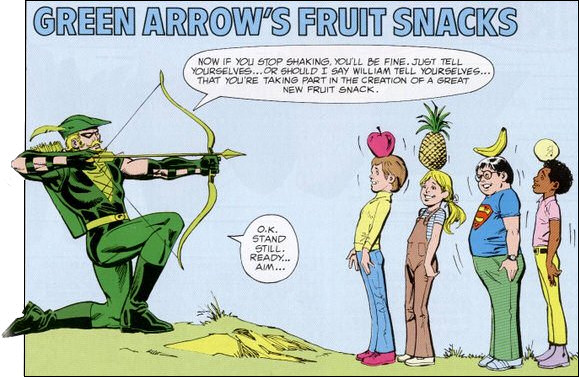 Green Arrow's Fruit Snacks